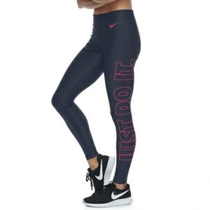 """Nike Power Training """"Just Do It"""" Graphic Tights"""